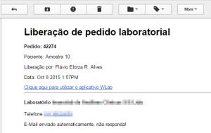 Email de notificação